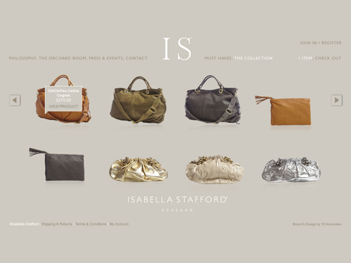 Isabella Stafford product page by 10 Associates