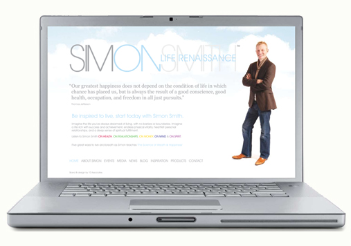 Brand and website design for Simon Smith by 10 Associates