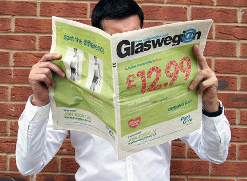 Pure Gym Glasgow newspaper by 10 Associates