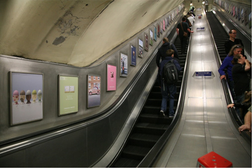 Graham & Brown advertising as seen on the London Underground