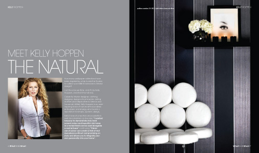 Kelly Hoppen article in WhatWallsWant magazine