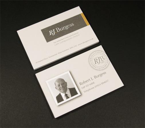 RJ Burgess business cards