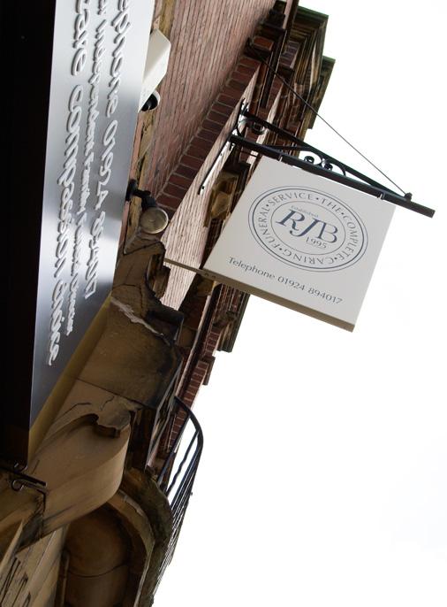 External signage by 10 Associates for RJ Burgess