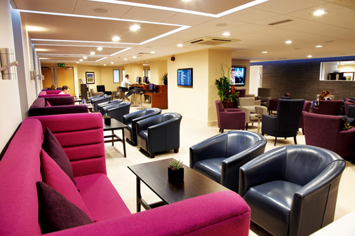 Interior of Yorkshire Premier Lounge by 10 Associates