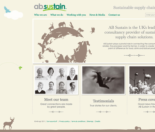 AB Sustain website by 10 Associates