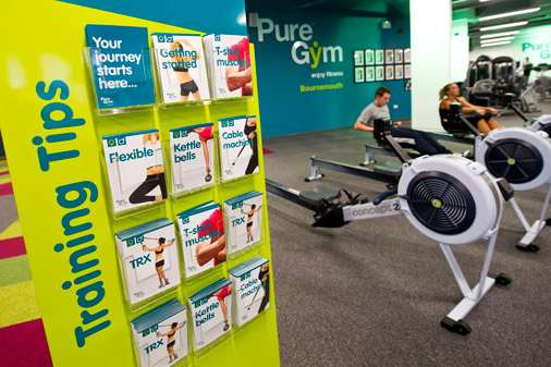Pure Gym workout cards created by 10 Associates