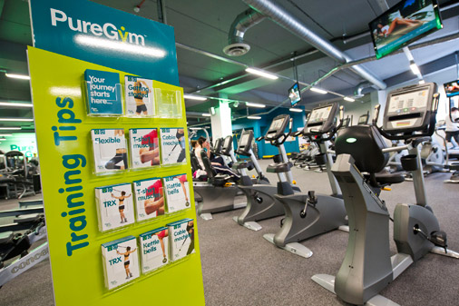 Pure Gym workout cards by 10 Associates