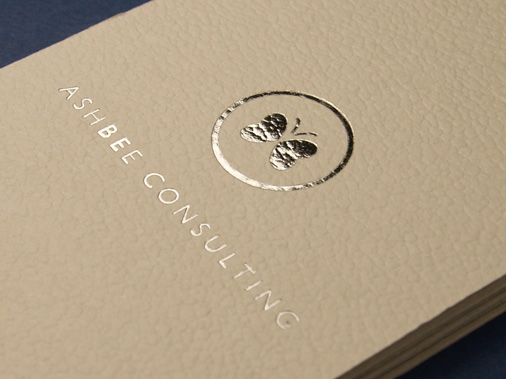 Ashbee Consulting business card designed by 10 Associates