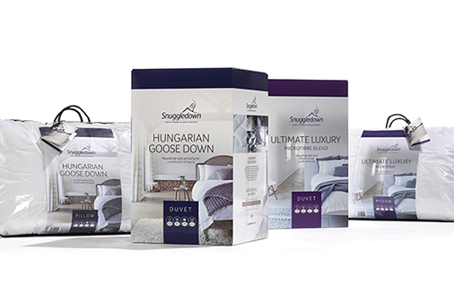 Snuggledown Packaging Range created by 10 Associates