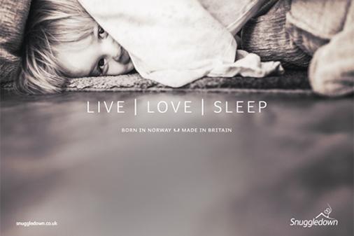 Live, Love, Sleep with Snuggledown