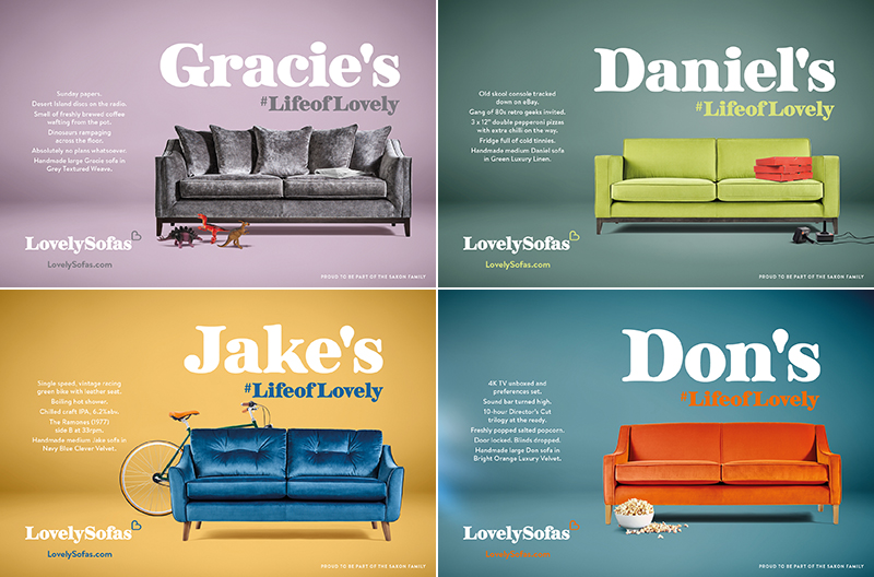 Lovely Sofas Quarter Page Adverts