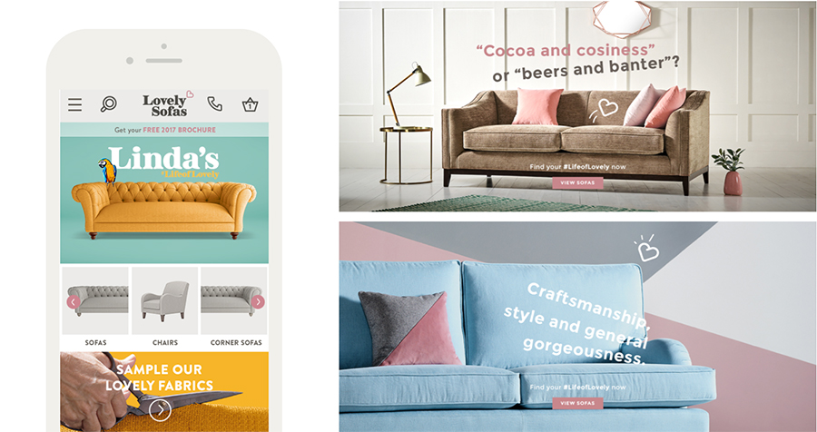 Lovely Sofas Website