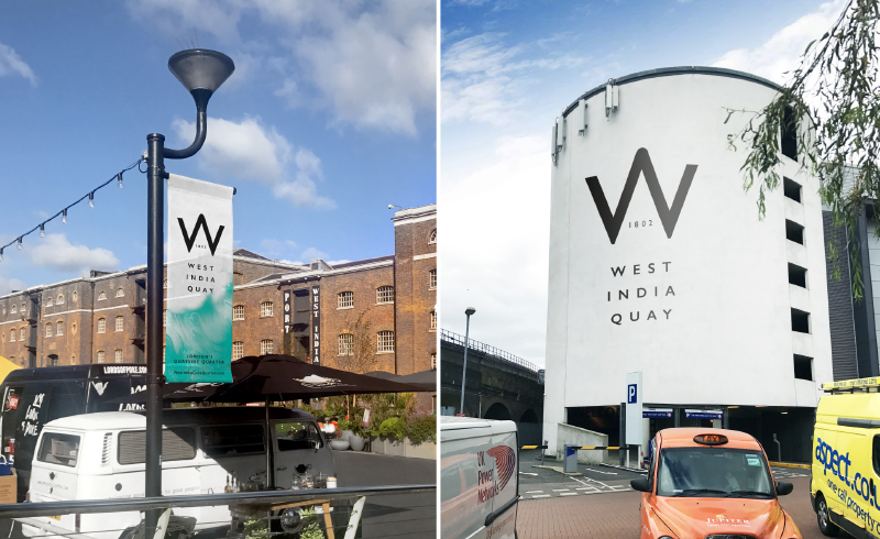 West India Quay Branding London