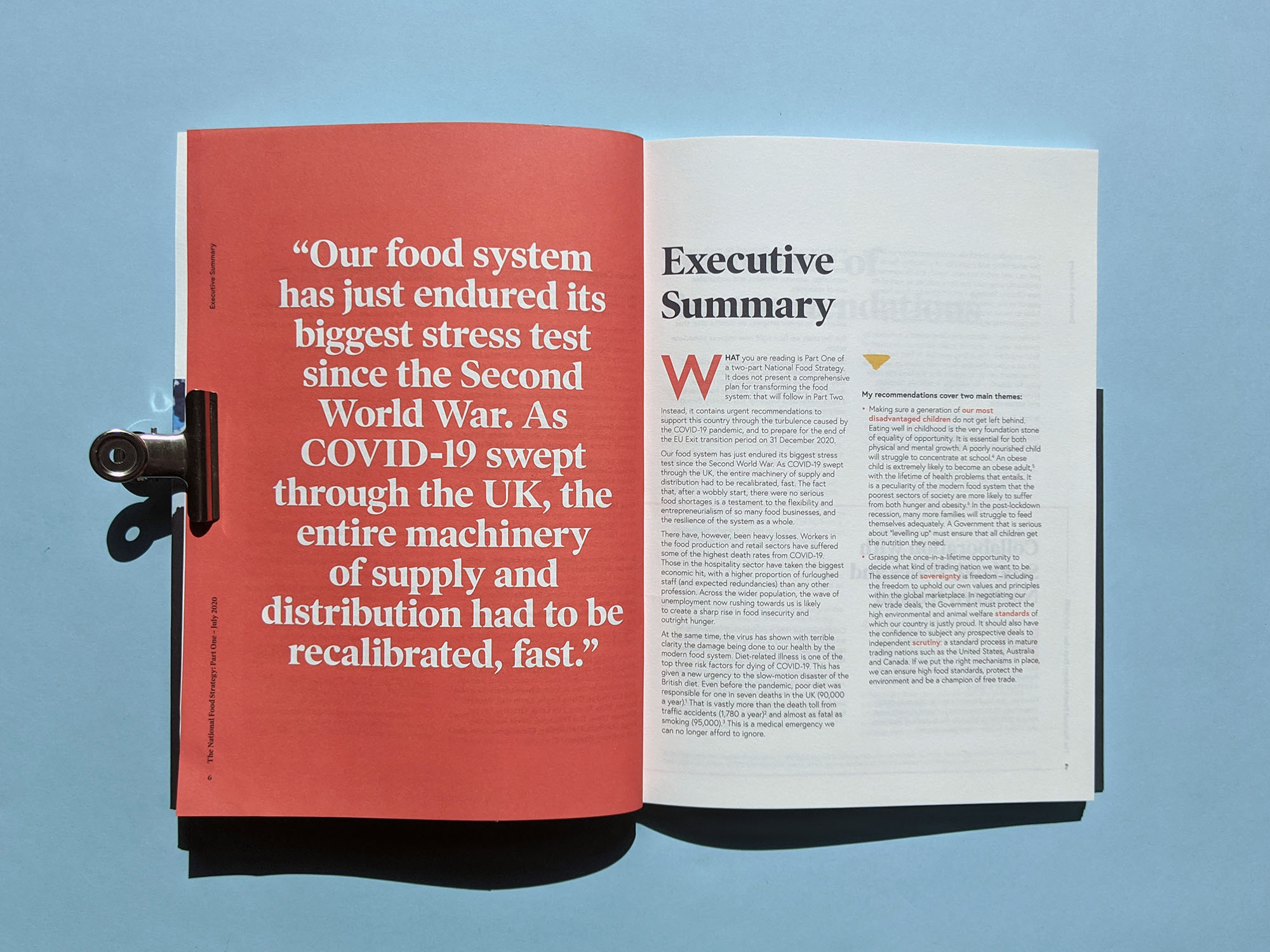 National Food Strategy Report Exec Summary