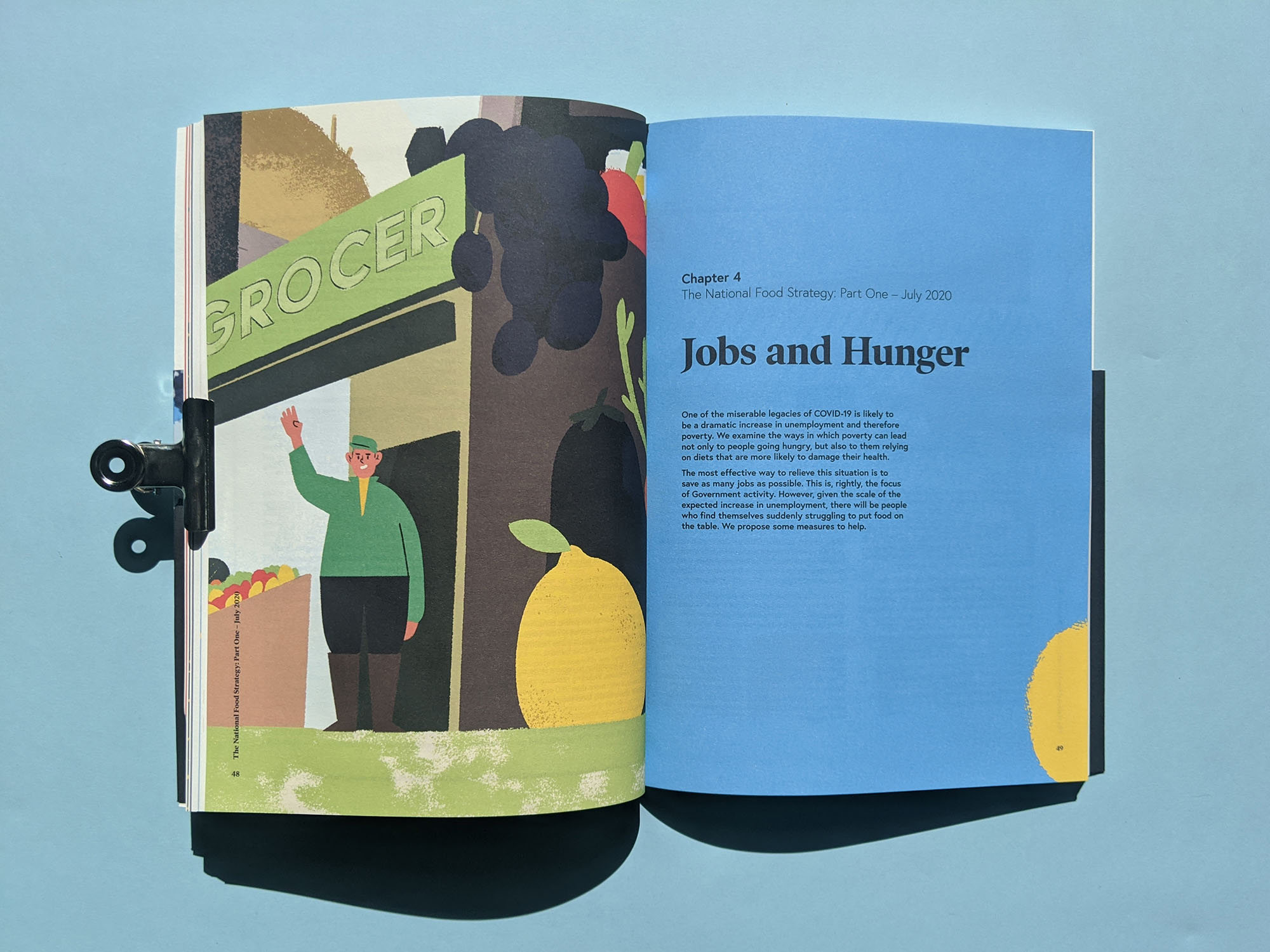 National Food Strategy Report illustrations